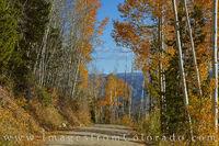 Autumn on a County Road near Fraser 106-1
