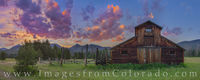 Betty Dick Barn Evening Panorama, RMNP 1