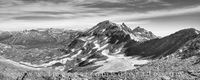 Black and White Panorama from West Maroon Pass 1