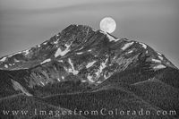 Byers Peak Full Moon Black and White 1