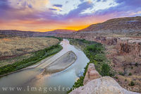 Horsethief Canyon and the Colorado River at Sunset 716-1