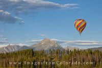 Hot Air Baloon over Fraser, Colorado 1