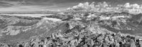 Mount Princeton Panorama Black and White 1