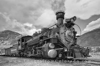 Narrow Gauge Railroad in Black and White 1