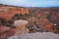 Rattlesnake Canyon at Sunset 1