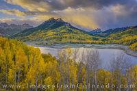 Silver Jack Reservoir Autumn Surnise Colorado 104-1