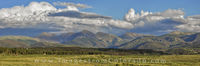 Winter Park Panorama of James and Parry Peaks