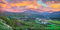 Winter Park and Parry Peak Sunset Pano 704-1