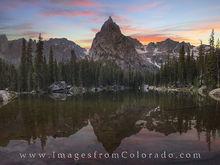 Lone Eagle Peak at Sunset 1