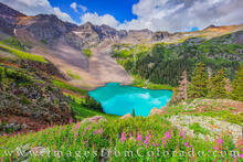 Lower Blue Lake on a Summer Afternoon 726-1