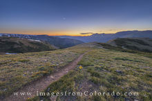 Hiking the Continental Divide Trail near Berthoud Pass