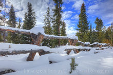 Wooden Fence after a Snow 2