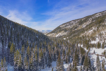 winter park, fraser, grand county, jim creek, december, winter, snow, drone, aerial, beauty blue skies