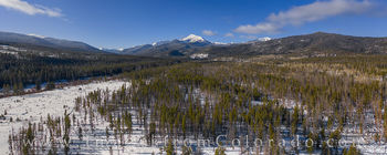 byers peak, aerial view, drone, fraser, fraser valley, grand county, st. louis creek, december, winter, snow