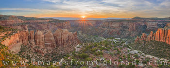 artists point, panorama, colorado national monument, sunrise, colorado, colorado plateau, canyon, monument canyon, summer, grand junction, fruita