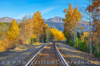 winter park, grand county, train tracks, parry peak, fall, autumn
