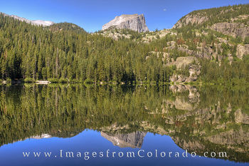 bear lake, rocky mountain national park, estes park, moon, rocky mountains