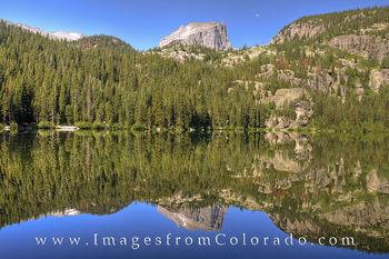 bear lake, rocky mountain national park, estes park, moon, rocky mountains