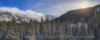 winter park, grand county, aerial, drone, panorama, berthoud pass, james, peak, parry peak, mount eva, jim creek, jim creek trail, snow, december, fresh powder, hiking, snowshoeing