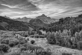 Colorado Images, black and white, Colorado landscapes, Mt Sneffels images, Mt. Sneffels, Ouray Colorado, ouray, ridgway, san juan mountains, san juans