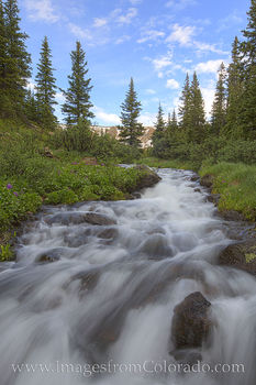 berthoud pass, stream, snowmelt, hiking, winter park, highway 40, morning, fraser valley, first creek, second creek