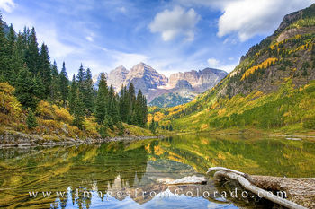 Autumn Morning at the Maroon Bells 1