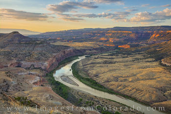 colorado river, horsethief canyon, mesa county, grand junction, sunrise, drone, aerial, morning, kokopelli trail