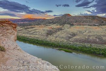 colorado river, sunset, kokopelli trail, horsethief canyon, black ridge, grand junction, mesa county