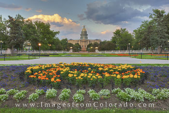 Denver Skyline and State Capitol Images and Prints