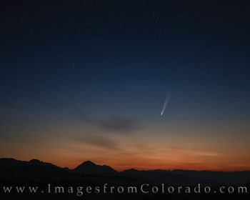 neowise, comet, rocky mountain national park, RMNP, big dipper, night sky, trail ridge road