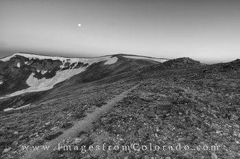 continental divide, black and white, black and white photos, Continental Divide Trail, full moon, hiking, hiking colorado, colorado trails, berthoud pass, berthoud pass trail