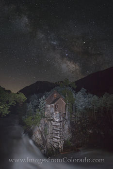 crystal mill images, crystal mill colorado, milky way, milky way photos, night sky, colorado night sky, coloarado milky way, dead horse mill