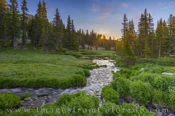 current creek, berthoud pass, grand county, sunrise, hike morning, cold, summer