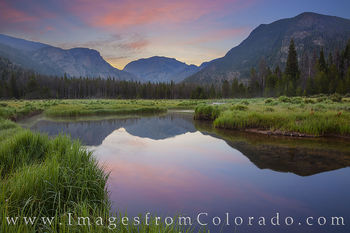 rocky mountain national park, east inlets, grand lake, morning, sunrise, stream, calm