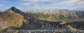 Electric Pass Panorama - Maroon Bells Wilderness 1
