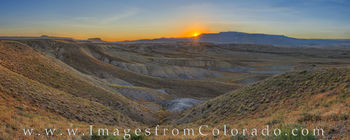 grand mesa, sunrise, first light, western slope, palisade, grand junction, panorama, garfield, mount garifield