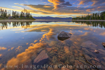 lake granby, sunrise, arapaho national forest, highway 34, grand county, grand lake, granby, summer