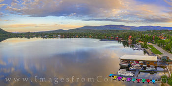 Grand Lake Morning Summer Panorama 1