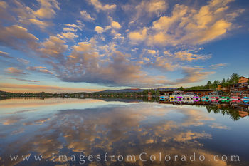 grand lake, grand lake prints, sunrise, grand county, morning, reflection, rocky mountain national park, summer
