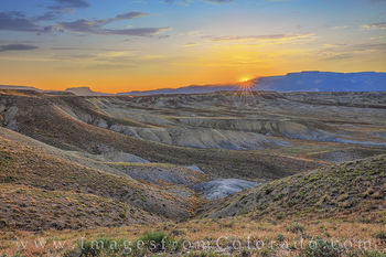 grand mesa, mount garfield, sunrise, grand junction, morning, desert, western slope