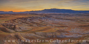 grand mesa, whitewater region, grand valley, sunrise, aerial, drone, desert, western slope, western colorado, grand junction