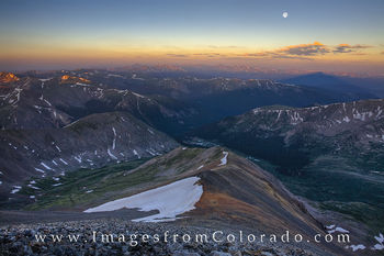 Grays Peak Moonset