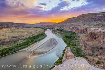 kokopelli trail, colorado river, grand junction, canyon, overlook, sunset, western slope