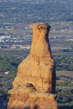Independence Monument, colorado national monument, telephoto lens, morning, grand junction