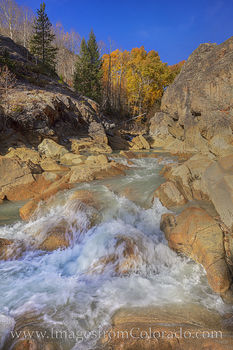 Lake creek, independence pass, 82, fall, autumn, cascade, waterfall, aspen, gold, orange