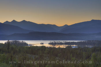 lake dillon, lake dillon images, frisco, moonrise, colorado sunrise, colorado mountains, breckenridge, colorado lakes, colorado pano