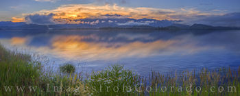 lake granby, highway 34, grand county, sunrise, lake, colors, daisies, wildflowers, morning, winter park, grand lake, granby, panorama