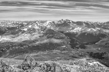 14ers, bierstadt, grays, torreys, colorado landscapes, rocky, mountains, colorado hikes, hiking 14ers, black and white, prints for sale, colorado prints, wall decor