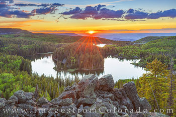 mesa lake, grand mesa, grand mesa scenic byway, mesa lakes, sunset, panorama, western colorado, grand junction, hike, hidden gem