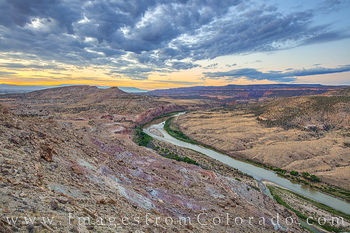 colorado river, mesa county, mcinnis canyon, horsethief canyon, mack point, kokopelli trail, sunrise, morning